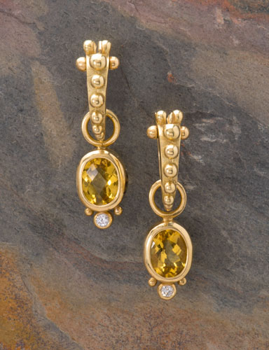 Golden Beryl and Diamond Moondrops