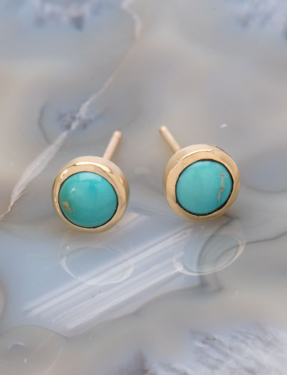 Blue Boy Turquoise Studs
