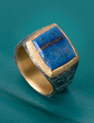 Natural Surface Lapis Ring