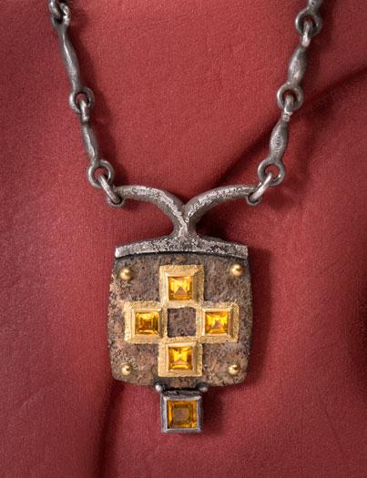 The golden eye square citrine cross pendant new items square citrine cross pendant aloadofball Gallery