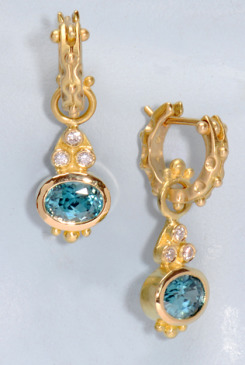 Blue Zircon Larissa Drops