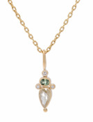 Rose Cut Celery Diamond Pendant