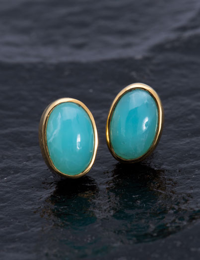 Medium Peruvian Opal Studs