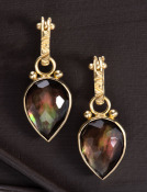 Smoky Quartz Doublet Drops
