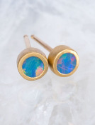 Small Opal Doublet Studs