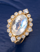 Moonstone Titania Ring
