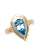 Kashmir Aqua Pear Ring