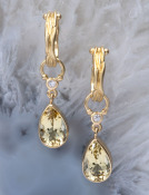 Golden Beryl Teardrops