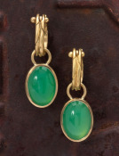 Chrysoprase Oval Drops
