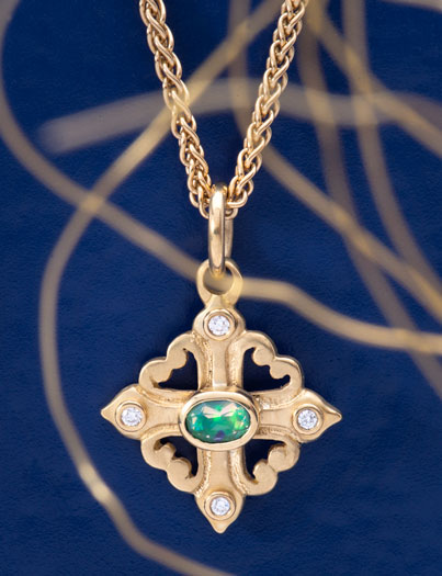 Brazilian Opal Sophia's Cross
