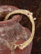 Ruby Sea Serpent Cuff