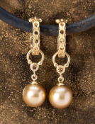 South Sea Pearl Horseshoe Drops