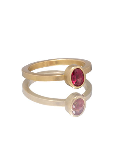 Oval Red Spinel Be Mine Ring