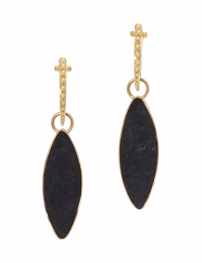 Black Jade Marquise Drops