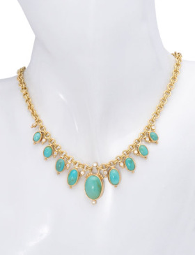 Dyer Blue Turquoise Necklace
