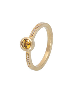 Mali Garnet Be Mine Ring