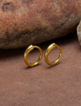 24kt Gold Large Continuous Hoops View 2