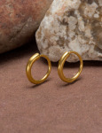 24kt Gold Large Continuous Hoops View 1