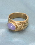 Chalcedony Frog in a Pond Ring