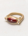 Garnet Carbuncle Ring