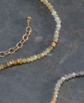 Petite Earth Tone Diamond Necklace View 1