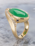 Jade Swoop Ring