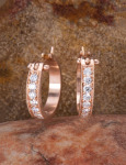 Large Diamond Pave Hoops View 1