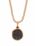 Hephthalite Coin Pendant View 1