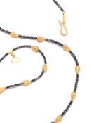Black Diamond and Gold Necklace View 1
