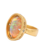 Ethiopian Opal Reflecting Pool Ring View 1